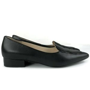 Cole Haan Leah Black Leather Skimmer Flat 9B
